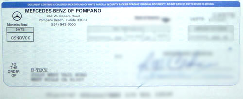 Espeedo digital speedometer services client testimonials for Mercedes benz of pompano service